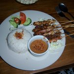 Mixed sate (beef, chicken and pork). Tender, flavorful and moist!
