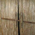 door of the bungalow