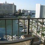 Beautiful marina view from 9th floor balcony room
