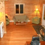 Inside one of the chalets - view of the living room