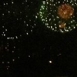 View of the fireworks from our room