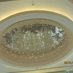 Chandellier in main lobby