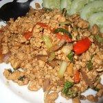Basil Chicken - 1 of the better ones in Krabi, fragrance of basil & spiciness
