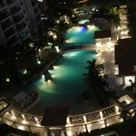 night view of swimming pool