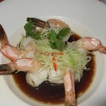 Steamed Prawns in Soy - very fresh & crunchy, goes so well with the fragrant s