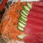 Salmon & Tuna sashimi - fresh enough...