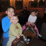 The Kids Enjoying the Saddle Seats...Yee Haw!!!!!