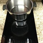 Recessed bottom pans coupled with Safety Burners can't boil water!