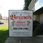 Big Sign at Entrance of Bruno's