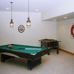 Pool table, foosball & electronic darts