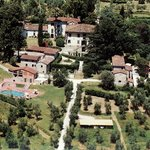 Villa Stabbia surrounded by olive trees