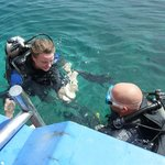Roberto and student during open water diver course