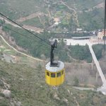 Cable car ride up to Montserrat Monastery