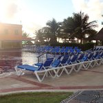 Picture of the pool very early in the morning