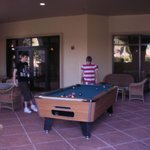 pool table at hotel