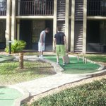 crazy golf at hotel
