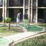 crazy golf at hotel