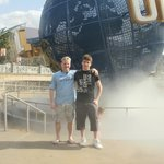 me and son at universal...