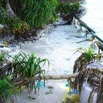 erosion in front of Lagoon beach villas