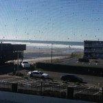 Ocean view from room 208, looking thru balcony screen door