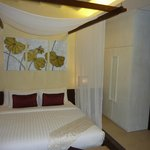 Room with lower bed