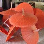 Renting a tuk tuk to visit the umbrella village