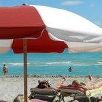 La playa del hotel