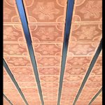 Beautiful tiled ceiling in room