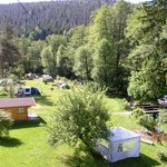 Tentsite on the Black Forest camping-ground Muellerwiese