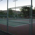 Two of several tennis courts