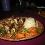 Marinated arrechera/chicken/shrimp in an awesome presentatio