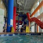 one side of the slides for older children