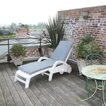 Terrasse privée de la chambre - Vue sur l'Estuaire
