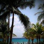 uitzicht vanaf 't zwembad naar de zee! (riu playacar)