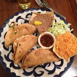 A full plate of Chicken Tacos!