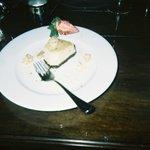 Half eaten hazelnut cheesecake, it was too good for my boyfriend to wait.
