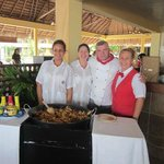 Lisset,Danny, Chef and Maria - staff at Cuban Restaurant