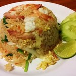Egg fried rice with prawn ^_^