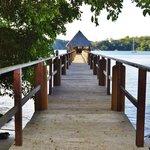 Pier to the Tiki Bar
