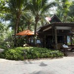 Entrance from beach with restaurant/bar to right