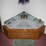Enjoy you in-room jacuzzi
