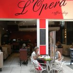 Colourful and welcoming facade of L'Opera Restaurant