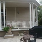 Front porch and patio