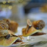 Duck Confit, Foie Gras, Smoked Almonds, Puff Pastry