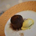 Fondant au Chocolate, Saffran Glace'