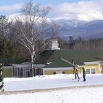 ice rink with Mt. Washington in background