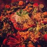 moussaka with quinoa salad