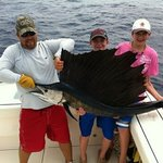 sailfish aboard Marathon fishing charter