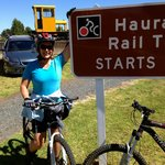 Trail start at Te Aroha