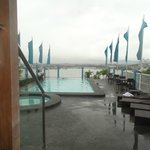 poolside view from the roof top restaurant